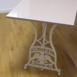 designer tisch mit melamin oberfläche