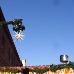 herrnhuter weihnachtsstern auf dem lucia weihnachtsmarkt