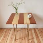 designertisch aus tropischen hölzern