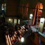 treppe mit streckmetall leuchten im denkmalgeschützten ensemble der kulturbrauerei