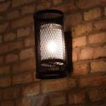 wandlampe mit satiniertem glasschirm
