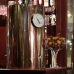 glühweinbereiter aus kupfer mit thermometer