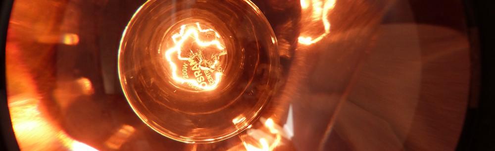 theaterstrahler mit kupfer reflektor