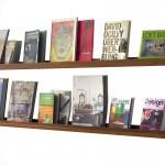 Bücherbord Mahagoni