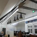 shopbeleuchtung mit fabriklampen