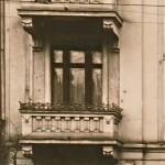 historische aufnahme eines pankower balkons