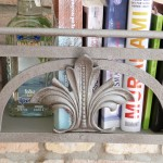 regal aus eisen mit reischer ornamentik schmiedeeisern