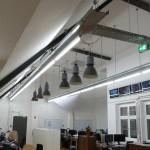 Shopbeleuchtung mit attraktiven alten Leuchten