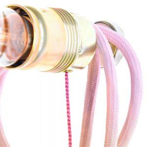 rosa Mädchenlampe mit Schalter