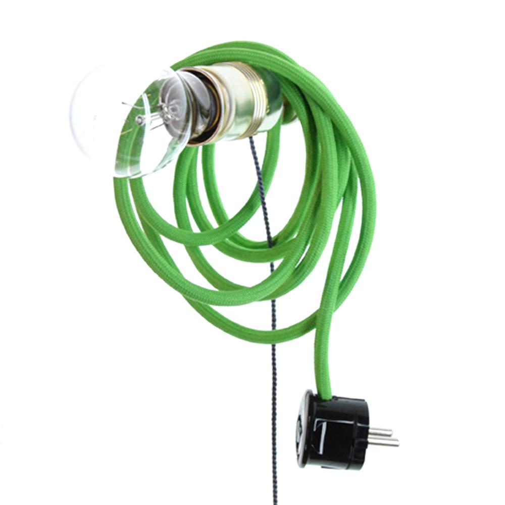 Magnetlampe mit farbigem Kabel