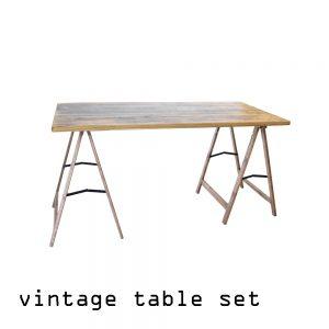 vintage Tische aus Holz