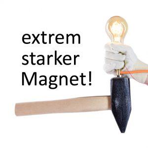 Magnetlampe mit Magnet