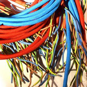 stoffkabel für Manufakturdesign Lampe