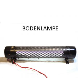 Bodenlampe aus Metall Industriedesign